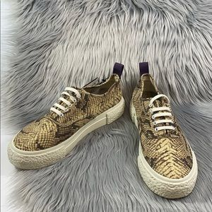 Eytys & h&m snake skin sneakers  size 7.5 size 40